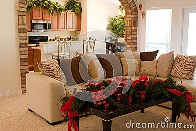 Decoraciones caseras de la Navidad