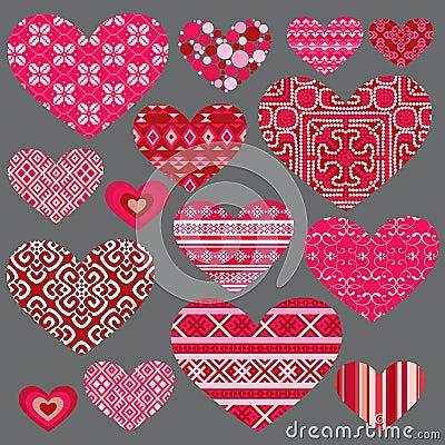 De san valentn con corazones rojos y brillantes auto - Decoraciones para san valentin ...