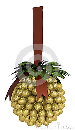 Decoração dourada do Natal