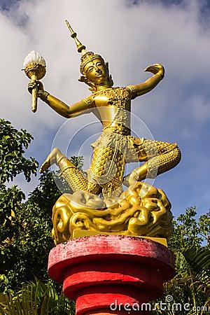 Decorate lantern in Wat Mokkanlan , Chomthong Chiangmai Thailand