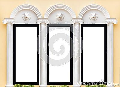Decorate of Roman pillars