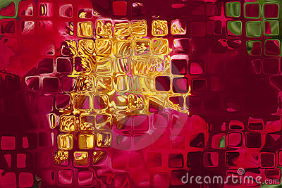 Decorated abstract glass plate