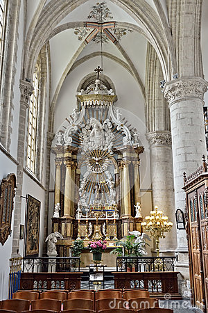 Free Decorated Altar In Interior Of Church Saint Walburga Royalty Free Stock Images - 58644269