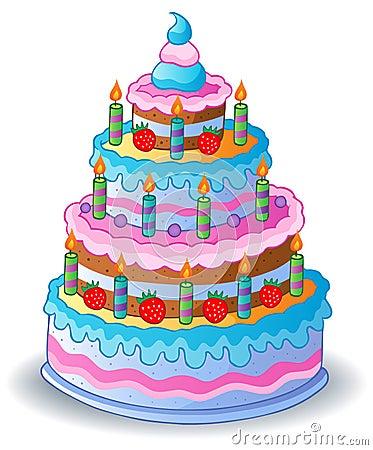 Decorated birthday cake 1