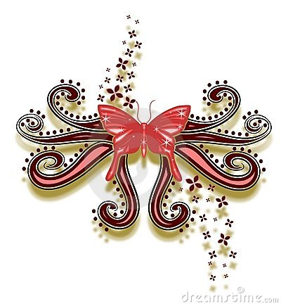 Decorated butterfly