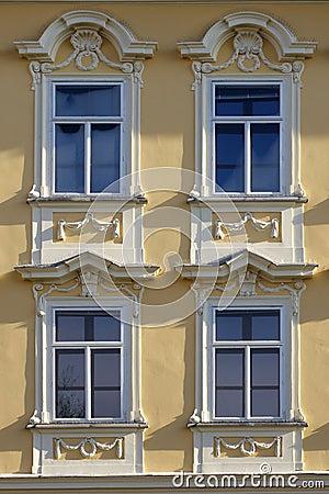 Decorated castle window
