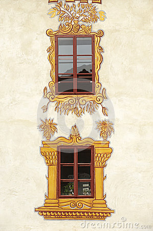 Decorated castle windows