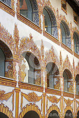 Decorated castle windows
