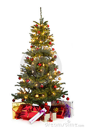 Free Decorated Christmas Tree Royalty Free Stock Images - 16248639
