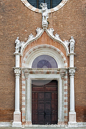 Free Decorated Church Doors In Venice Stock Photos - 60048313