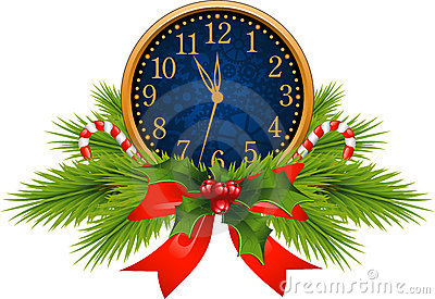 Decorated Clock (New Years Eve)