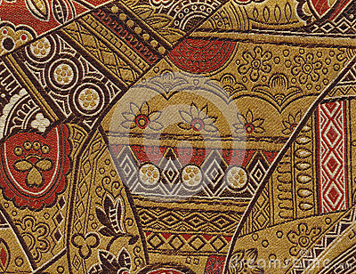 Decorated cloth texture