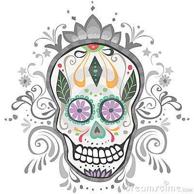 Decorated Day of the Dead Sugar Skull