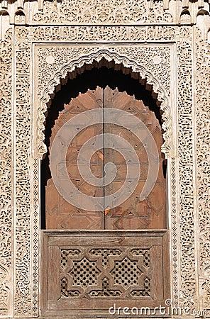 Decorated door in Fes Morocco