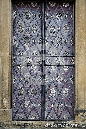 Decorated door in Prague