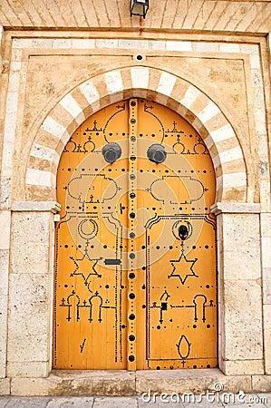 Decorated door in Tunis medina