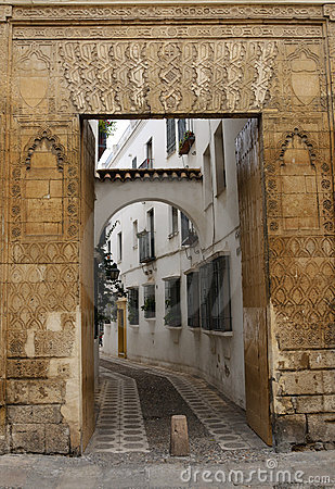 Decorated entrance door in Cordoba