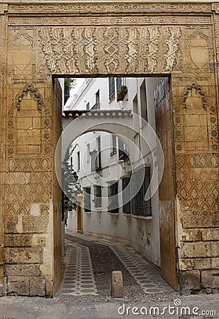 Decorated entrance door in Cordoba