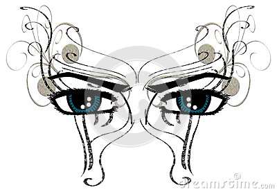 isolated eyes decorated with fantasy