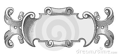Decorated frame vector