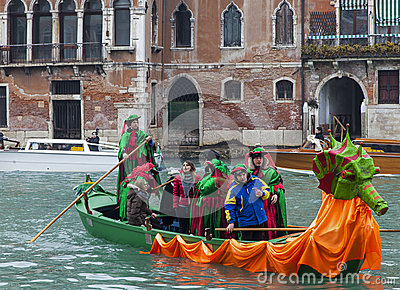Decorated Gondola Editorial Stock Image