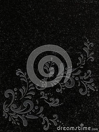 Decorated granite gravestone