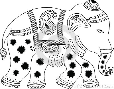 Decorated indian elephant