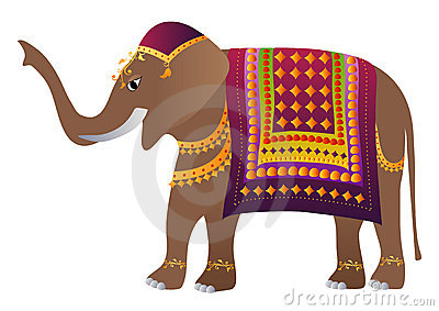 Decorated indian elephant royalty free stock photography for Sideboard indisch