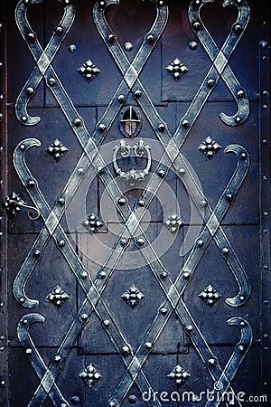 Decorated iron door