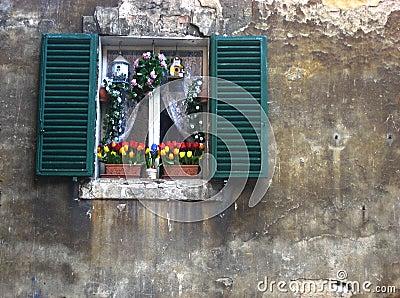 Decorated Italian Window