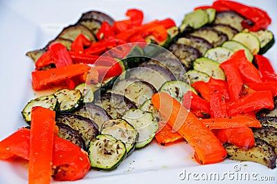Decorated italien salad