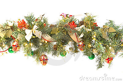 Decorated and lit garland