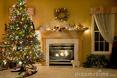 Decorated Living Room