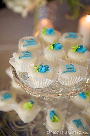 Decorated miniature cupcakes