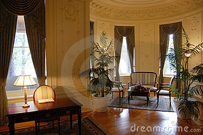 Decorated Room in Boldt Castle, Upstate New York Editorial Photography