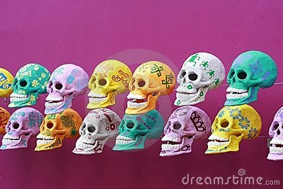 Decorated skulls