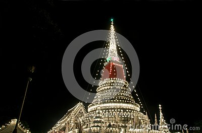 Decorated stupa in Thailand