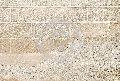 Decorated wall plaster flaking texture