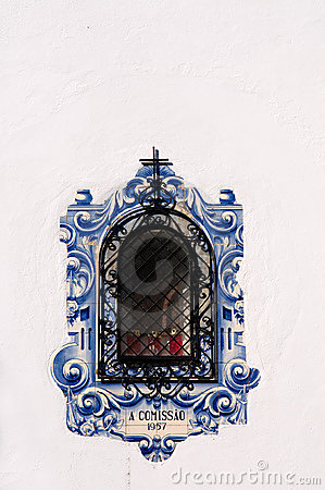 Free Decorated Window, Portugal Stock Image - 12898841