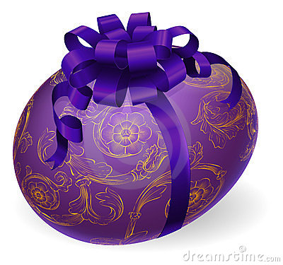 Decorated Wrapped Easter Egg