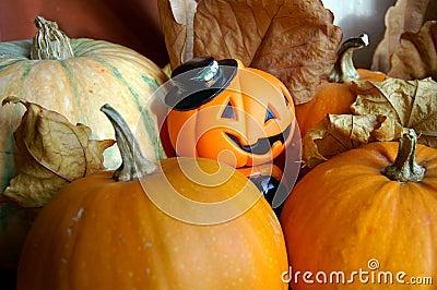 Decoratie aan de vieringsavond van Halloween