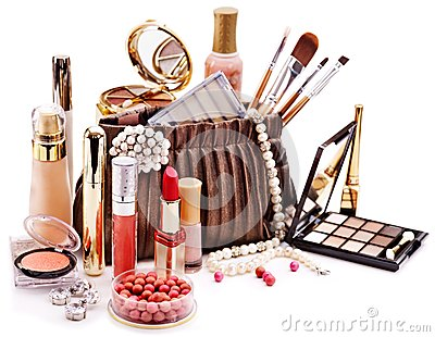 Decoratieve schoonheidsmiddelen voor make-up.