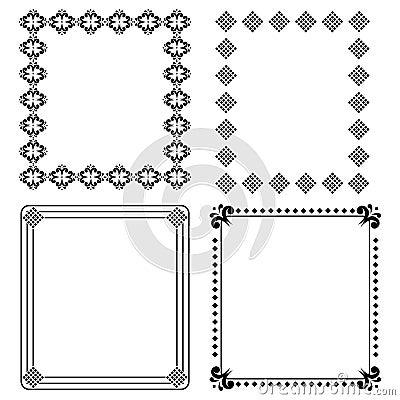 Decoratieve zwarte frames