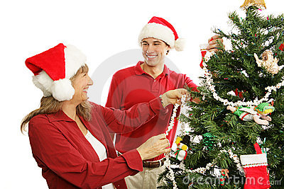 Decorating the Christmas Tree - Family Fun