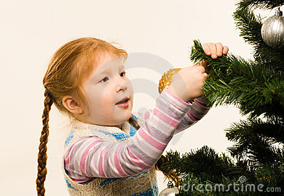 Decorating fir tree