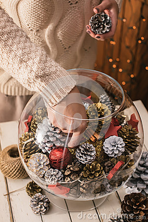 Free Decorating Home For Christmas Stock Images - 47699024