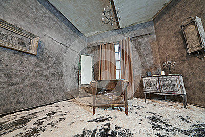 Decoration of abandoned room