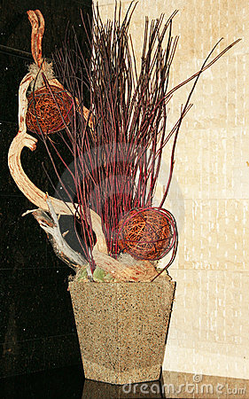 Decoration with dried plants