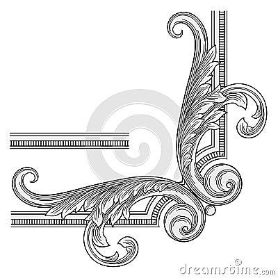 Decoration frame corner