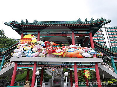 Decoration in garden, wong tai sin temple